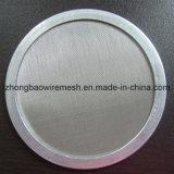 2017 Venda quente 304 316L pano de malha do filtro de aço inoxidável / disco filtrante