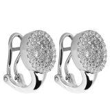 Monili della CZ di modo 925 orecchini del cerchio dei monili dell'argento sterlina