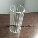 Suporte de vela de cilindro de vidro claro e geado