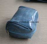 Sacchetti di piccola dimensione di trucco della donna lucida di lusso dell'unità di elaborazione, colore cosmetico dell'azzurro del sacchetto