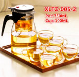 Logo personnalisé en verre de cuvette de jeu de thé