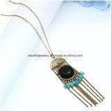 All-Abgleichung Strickjacke-Ketten-Troddel-Retro ethnische Art-Türkis-Halskette Jewellry