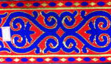 Ethnische Art-Kleid-Spitze-Stickerei-Zubehör