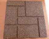 Baldosas de caucho entrelazadas y caucho reciclado pisos de goma antideslizante/mosaico Mosaico