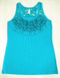 Big Yards Tricot Femme Dentelle T-shirt Veste T-Shirt
