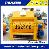 Js2000 Twin Shaft Obligatoire Type Mélangeur de ciment électrique