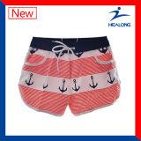Shorts della spiaggia di comodità delle signore di sublimazione dell'abito di disegno di modo di Healong da vendere