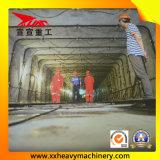 Dutos subterrâneos que levantam a máquina