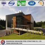 Villa légère de bâti en acier avec le mur rideau en verre