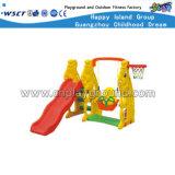 Plastikkleinkind-Spielwaren mit Schwingen-Plättchen und Basketball-Ziel (HC-16409)