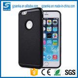 Het galvaniseren Geval van de Telefoon van de Verdediger van Motomo van de Rugdekking Frame+Leather het Mobiele voor iPhone 7/7plus