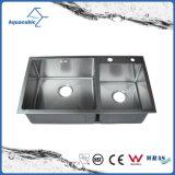 Moderne Hand - de gemaakte Gootsteen van de Keuken van het Roestvrij staal van de Keuken (ACS8245R)
