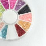 il chiodo di arte del chiodo della perla di colore della miscela 3D borda la rotella, decorazioni del chiodo del manicure di DIY