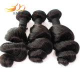 8Aバージンのインドの人間の毛髪の緩い波のRemyの毛の織り方