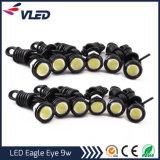 LED de grossista DRL luz diurna de automóveis 23mm 9W 12V olho de águia