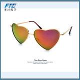 2017 gafas de sol del metal de la dimensión de una variable del corazón de la manera
