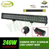 차를 위한 23inch 4D 광학 렌즈 240W LED 일 표시등 막대