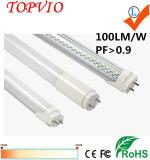 높은 PF 및 CRI 18W 120cm 2835 SMD T8 LED 관 빛