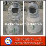 Jardín de esculturas de granito Animal basura estatua de piedra tallado