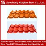Tôles d'acier ondulées galvanisées de toiture utilisées pour le matériau de toiture