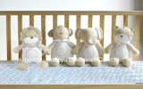 Têxtil Orgânico Soft Baby Plush Animal Style Toy