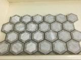 Belle mattonelle di mosaico del marmo di esagono di disegno