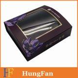 Rectángulo de empaquetado del rectángulo de papel del cuidado de piel con la ventana