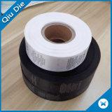 Da lavagem de cuidado da etiqueta da impressão nylon não para a etiqueta da roupa