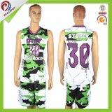 2017 o projeto novo Porpular Sublimated o projeto das vendas por atacado da camisola do basquetebol