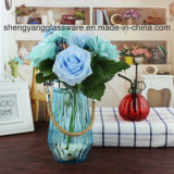 Heet verkoop de Vaas van het Glas van de Bloem van de Vorm van de Cilinder van de Kleur van de Nevel