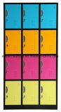15 de Kast van de Gymnastiek van het Metaal van de Opslag van de Kleren van het Staal van de deur