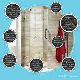 portello dell'acquazzone di vetro Tempered di 8mm Frameless/doccia/allegato dell'acquazzone con Ce