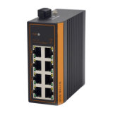 8*10/100/1000 RJ45 + interruptor industrial Unmanaged de 2*1000m SFP