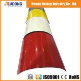 Panneau-Aludong composé en aluminium de courbure facile incassable de faisceau