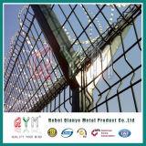 PVC上塗を施してあるY塀のポストの空港の保安の金網の塀