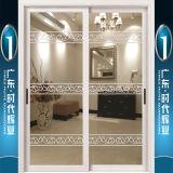 Portes coulissantes décorées par aluminium de bonne qualité avec le double vitrage