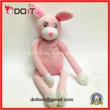 아이들 귀여운 분홍색 토끼 동물성 연약한 견면 벨벳 장난감 아기 담요