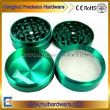 Haute qualité des pièces d'usinage CNC CNC rectifieuse de tabac en aluminium anodisé Herb meuleuse