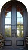 別荘のためのガラスが付いている機密保護の錬鉄の扉グリル