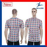 Healongのカスタムポロの人のTシャツ乾燥した適合のTシャツ