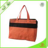 다채로운 비 길쌈된 지퍼 핸드백