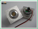LED ajustable cuadrado mini Downlight 3W para la iluminación de la cabina