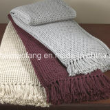 編まれたSuper Soft Washable 100%Acrylic Throw Blankets