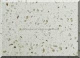 Pierre de quartz blanc de l'éclat des couleurs Surface solide