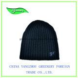 Cappello semplice promozionale nero del Knit di inverno di stile