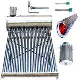 Calefator de água quente solar Non-Pressurized do aço inoxidável (sistema de aquecimento solar de água da câmara de ar de vácuo)
