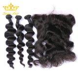 Virgin brésilien de l'homme hair extension de cheveux Bunde avec onde desserrés