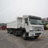 Moteurs diesel 420horsepower HOWO Tracteur à 3 essieux Semi-remorque à bascule