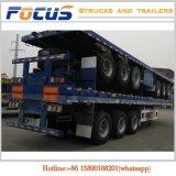 de 20FT 40FT 45FT de lit plat de conteneur de cargaison remorque semi à vendre au Qatar