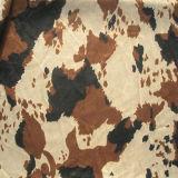 Imprime el patrón de vaca deforme tejido Velboa tejido utilizado para juguetes/sofá (DMR001)